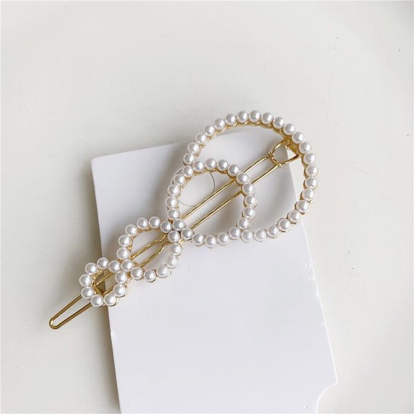 Hair Barrettes with Mini Pearl Beads - The Songbird Collection