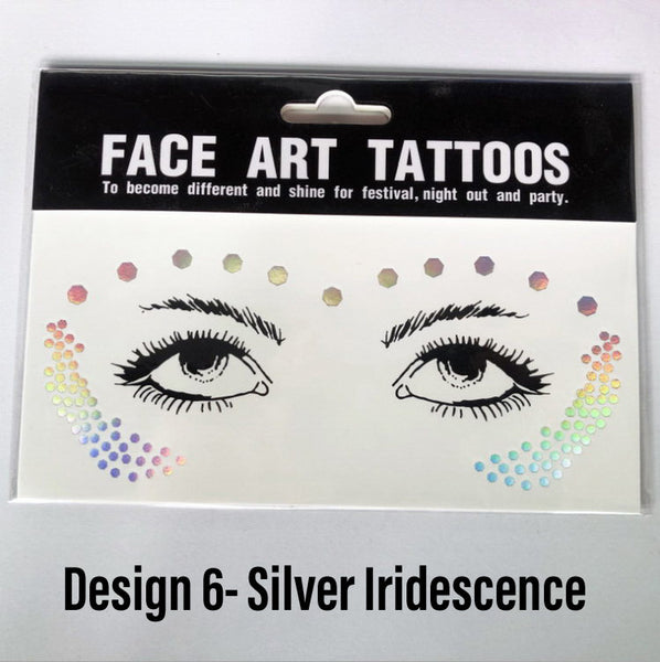 Metallic Face Temporary Tattoo Jewels - 11 Designs LOW STOCK!! - The Songbird Collection