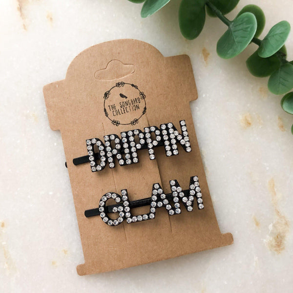 DRIPPIN GLAM 2 Piece Hair Pin Set - Low Stock! Hurry!! - The Songbird Collection