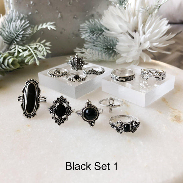 Black Ring Sets