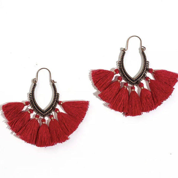 Jasnah Tassel Earrings - The Songbird Collection