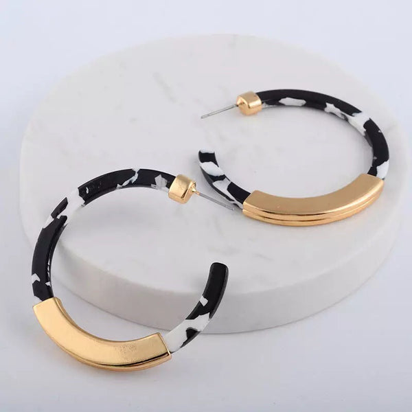Santa Cruz Hoop Earrings - 7 Colors! - The Songbird Collection