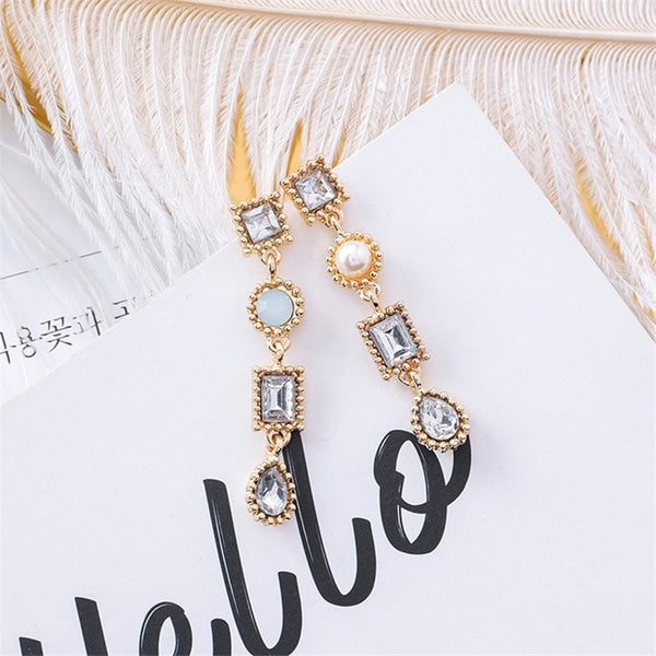 Letizia Sparkle Drop Earrings - 4 Gem Tones to choose from! - The Songbird Collection