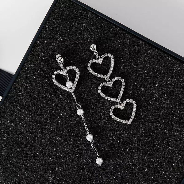 Sweetheart Asymmetric Earrings - Clip-Ons Available NOW! - The Songbird Collection