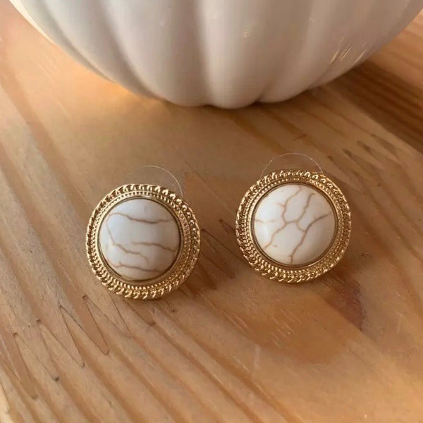 Embrace Pearly Stud Earrings - The Songbird Collection