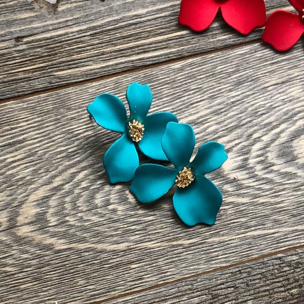 Mini Miami Flower Earrings - 12 Colors LOW STOCK! - The Songbird Collection