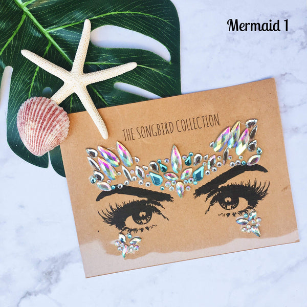 Mermaid Face Gems - 4 Designs IN STOCK! - The Songbird Collection