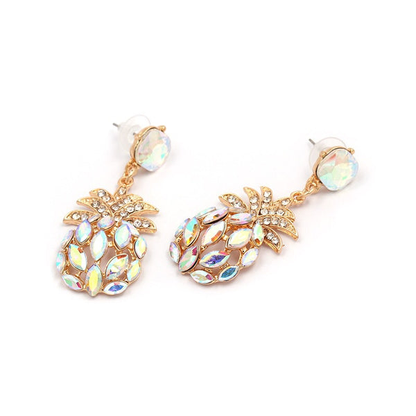 Pineapple Crystal Earrings - 5 Colors! - The Songbird Collection