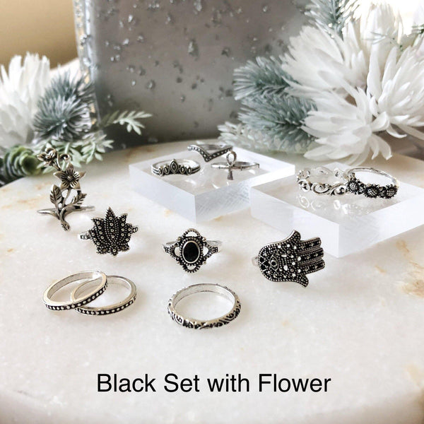 Black Ring Sets - Choose from 3 Sets! - The Songbird Collection