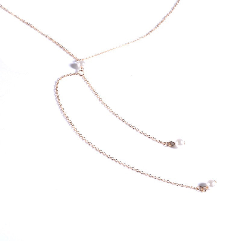 Beloved Pearl Back Drop Necklace - LAST CHANCE!! - The Songbird Collection
