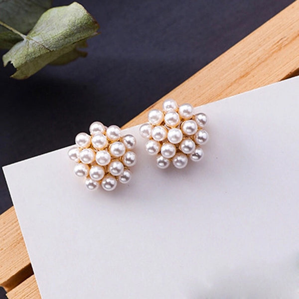 Pearly Dandelion Puff Earrings