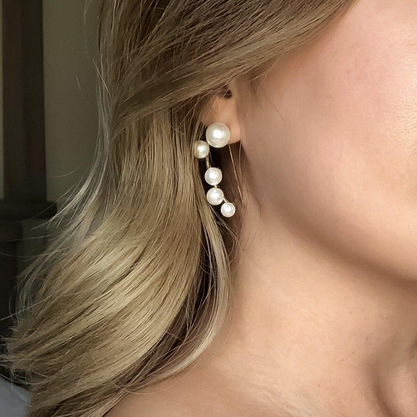 Modern Pearl Bass Clef Earrings - HOORAY! RESTOCKED!! - The Songbird Collection