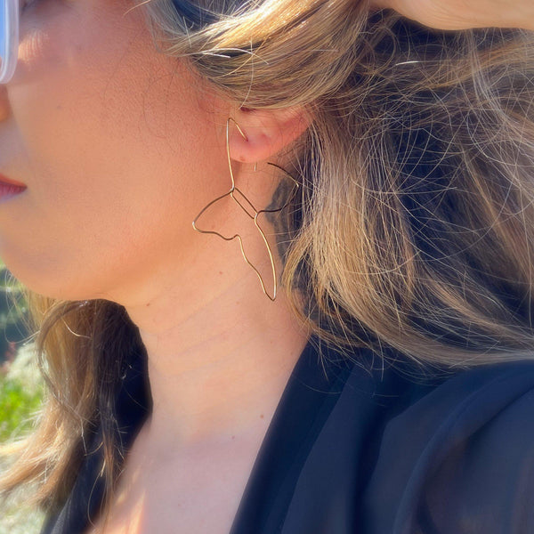 Birdwing Butterfly Earrings - The Songbird Collection