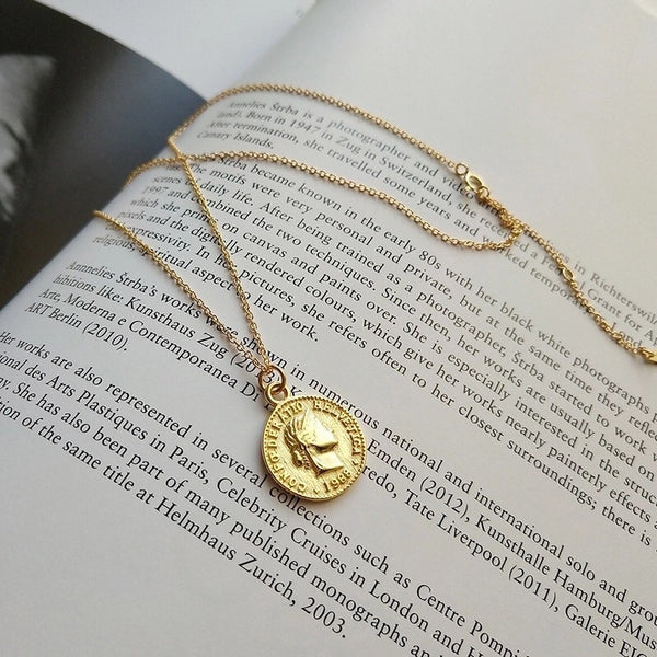 Cara Mia Coin Pendant Necklace - The Songbird Collection