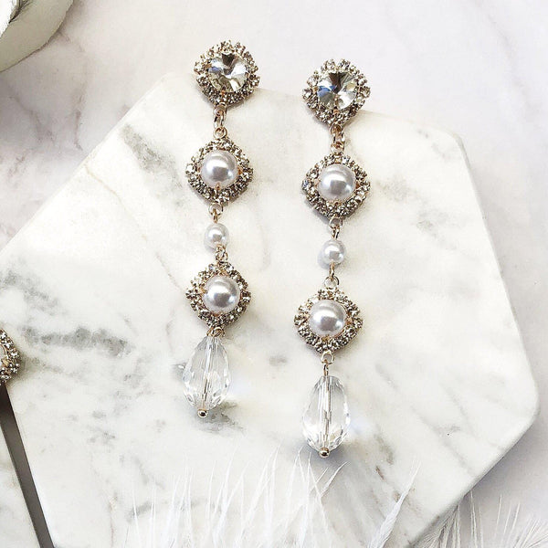 Genevieve Pearl Drop Earrings
