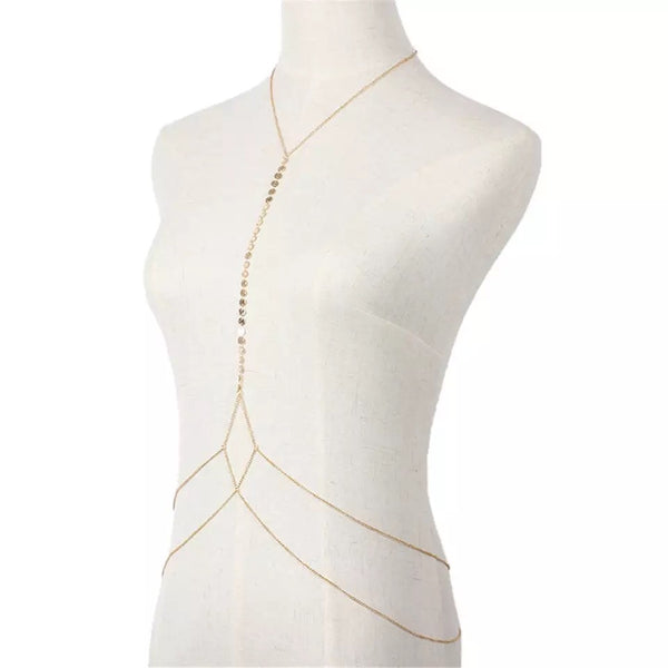 Disc Charm Body Chain - The Songbird Collection