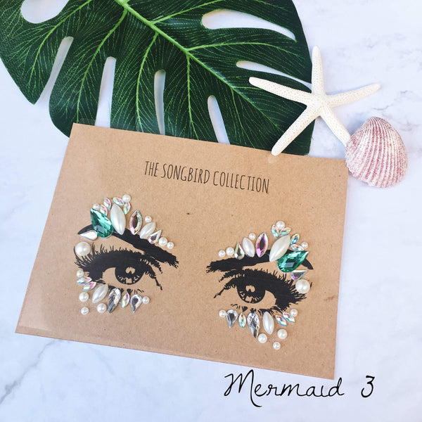 Mermaid Face Gems - 3 Designs! - The Songbird Collection