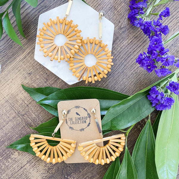 Playa Rica Wooden Statement Earrings- 4 LEFT!