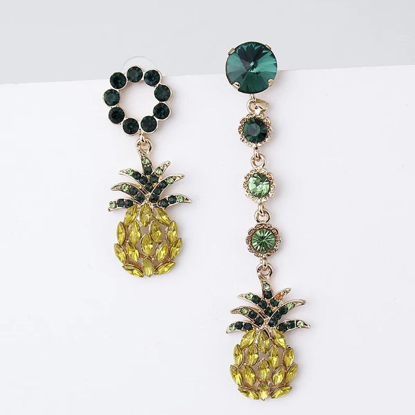 🍍 Hula Pineapple Asymmetric Earrings 🍍 - HURRY~3 LEFT!! - The Songbird Collection