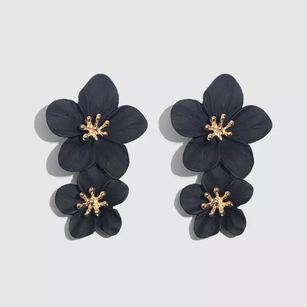 Hibiscus Flower Drop Earrings - 15 Colors RESTOCKED! - The Songbird Collection