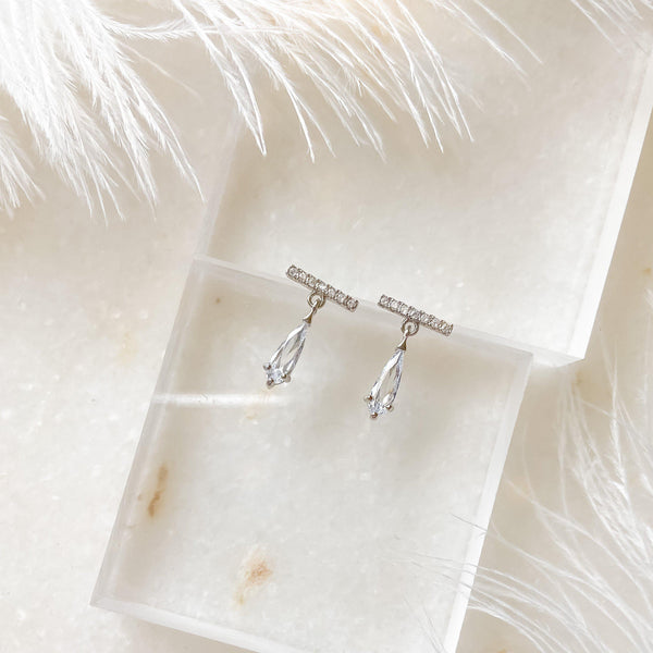 Liara Mini Crystal Drop Earrings - RESTOCKED! - The Songbird Collection