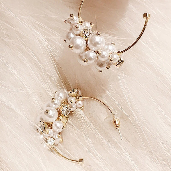 Tresor Pearl Hoop Earrings