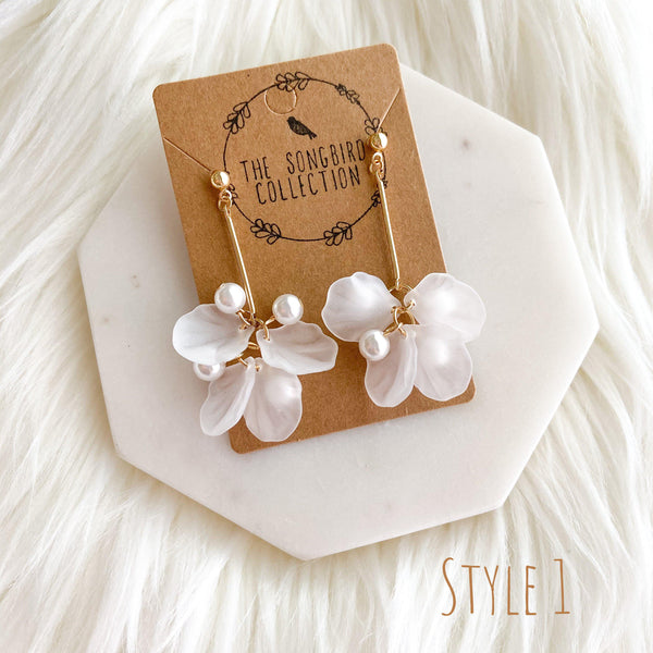 Frosted Floral Earrings - 7 Styles! - The Songbird Collection