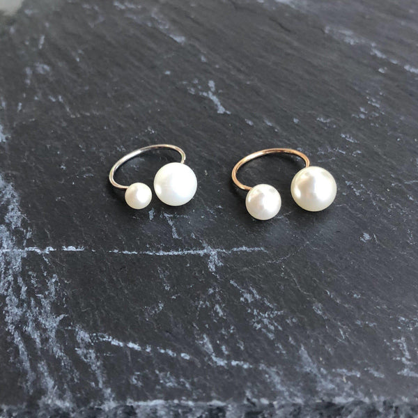 Arista Open Pearl Ring - BOGO FREE! - The Songbird Collection