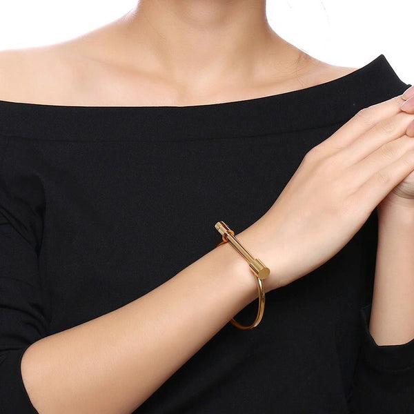 Sara Screw Cuff - Hooray! RESTOCKED!! - The Songbird Collection