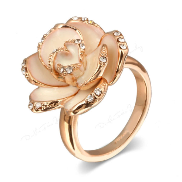 Camellia Flower Ring - The Songbird Collection