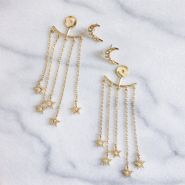 Moon and Stars Earrings - The Songbird Collection