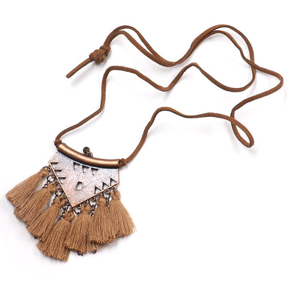 Gypsy Heart Tassel Necklace - Last Chance! - The Songbird Collection