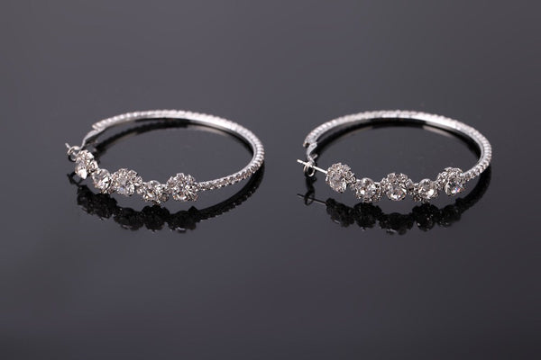 Flora Crystal Hoop Earrings - HOORAY!! RESTOCKED!! - The Songbird Collection