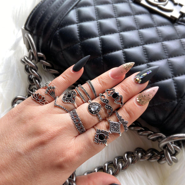 Malefi 15 Piece Ring Set - Fan Fav! 8 LEFT!!