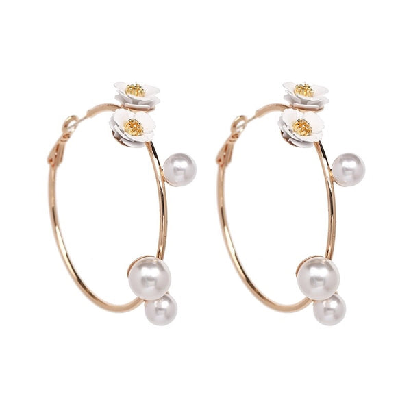 Pearly Everlasting Hoop Earrings - 6️⃣ LEFT - The Songbird Collection