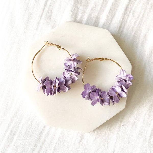 Anielle flower hoops Earrings - 4 Colors SELLING OUT!! - The Songbird Collection