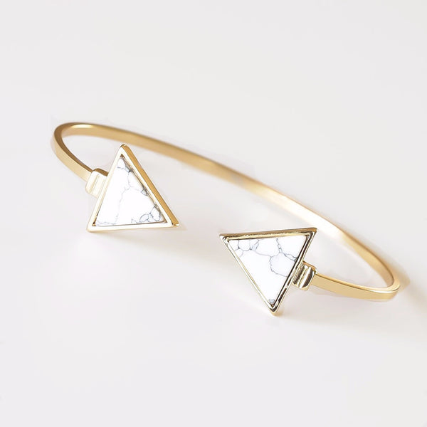 Marble Triangle Bracelet - The Songbird Collection