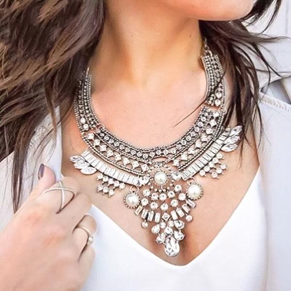Daya Maxi Statement Necklace - 1 LEFT!! - The Songbird Collection