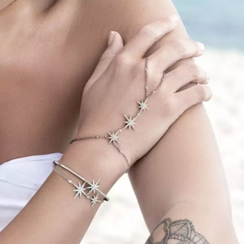 North Star Hand Chain - RESTOCKED! - The Songbird Collection