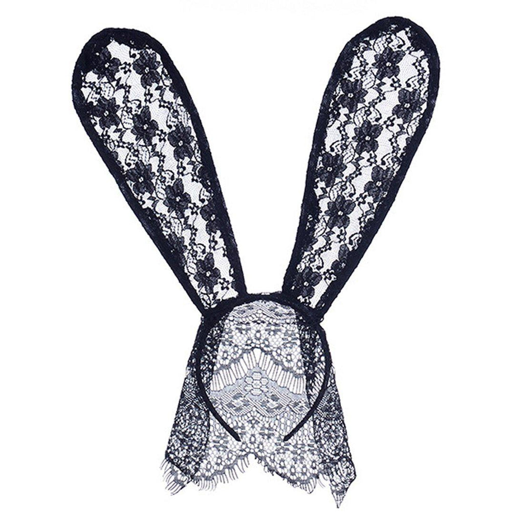 🐰 Black Lace Bunny Ear Headband - 4 Choices! - The Songbird Collection