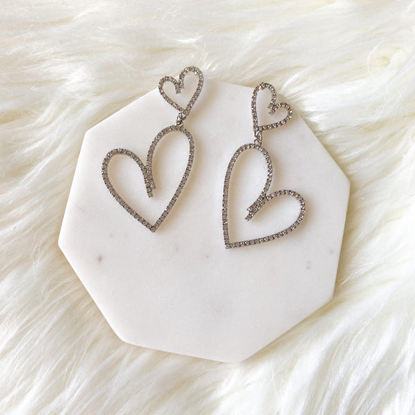 Be Mine Heart Earrings - The Songbird Collection
