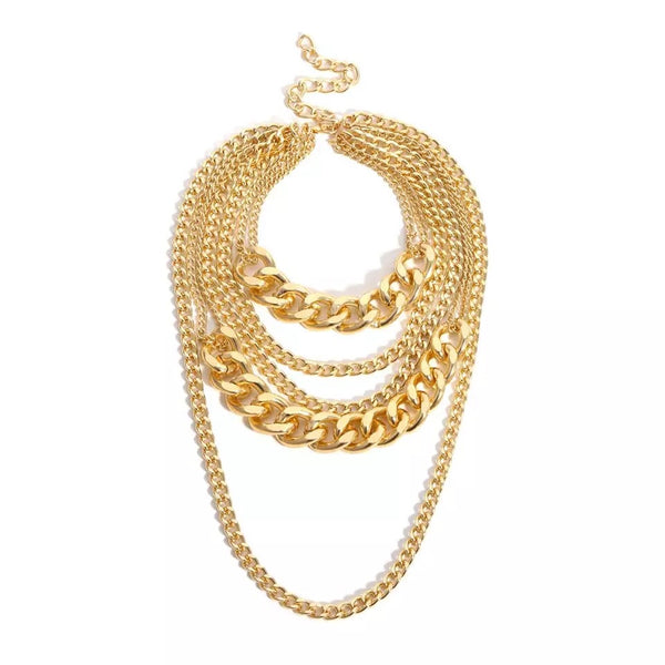 Chévere Layered Chain Necklace - LOW STOCK! - The Songbird Collection