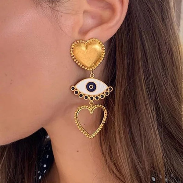 Le Cœur et L'œil (The Heart and the Eye) Earrings - 3 Styles! - The Songbird Collection