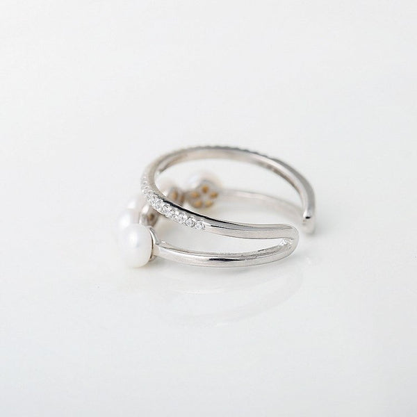 Perla Double Layered Ring - The Songbird Collection