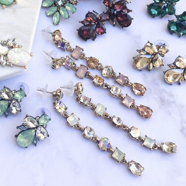 Rania Crystal Drop Earrings - LAST CHANCE! - The Songbird Collection