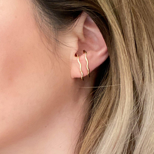 Zandi Earlobe Hugger Earrings - The Songbird Collection