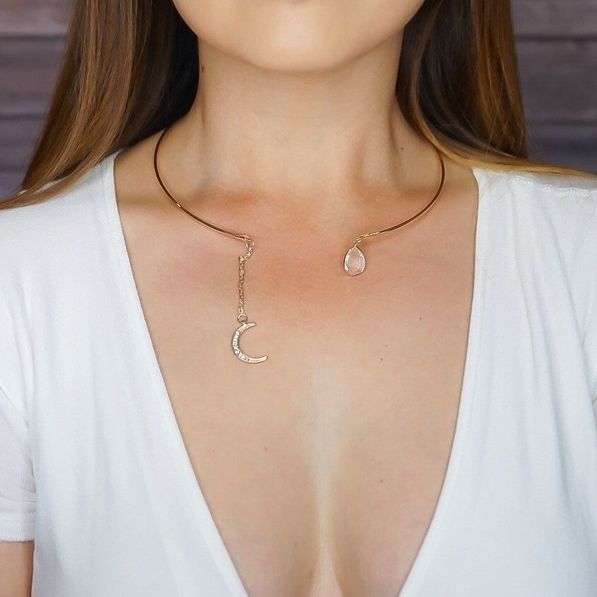 Crescent Moon Open Choker