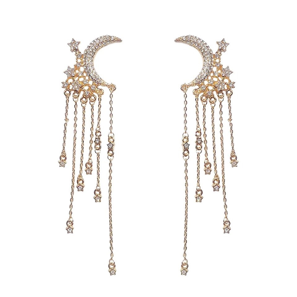 Moonlight & Starfall Earrings - The Songbird Collection