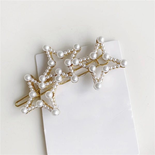 Hair Barrettes with Mini Pearl Beads - 5 Styles! - The Songbird Collection