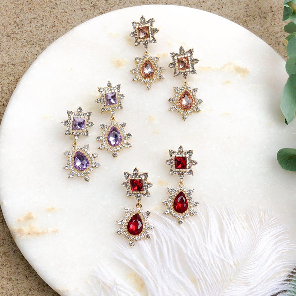 Anastasia Crystal Earrings - 3 Colors LOW STOCK! - The Songbird Collection